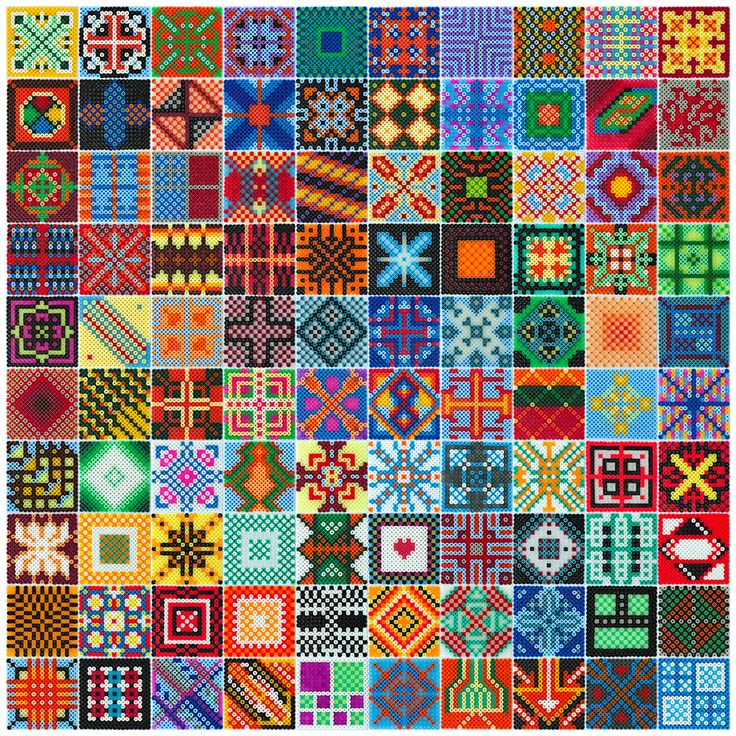 Collection of 100 Hama bead designs made by Villi.Ingi. (Size of each square/design is 17x17 beads. That´s 28.900 Hama beads in total) - Design © 2014 Villi.Ingi