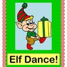 """ELF DANCE!"" - COUNT AND RHYME, IT'S HOLIDAY TIME!  Kids need to MOVE during Holiday Time!  Got wiggles?  Play a GROUP GAME!  Make an ELF BUDDY CRAFT!  Templates provided-- just add curling ribbon. Sequence numbers with 10 ELF NUMBER CARDS, follow Directed Movements, and learn a Rhyme and Song.  Great for Brain Development-- all the 'moves' alternate from one side of the body to the other!  (11 pages) Holiday Fun from Joyful Noises Express TpT!  $"