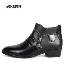 DEKESEN Homens De Couro Sapatos de Inverno Da Marca Ponto Toe Elegante Qualit Mens Flats Vestido de Couro Sapatos Oxford Para Sapatos Homens de Negócios(China (Mainland))