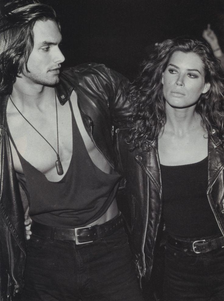 Calvin Klein Jeans 1991 - Marcus Schenkenberg & Carre Otis by Bruce Weber