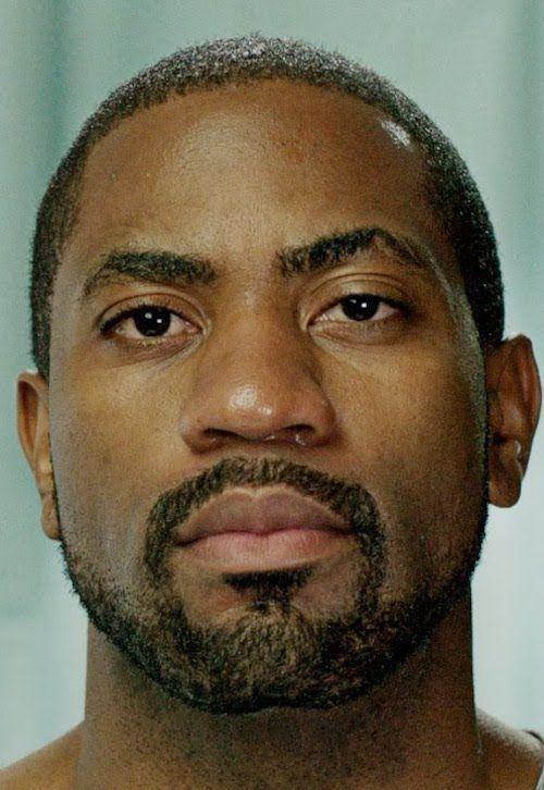 Black men short boxed beard