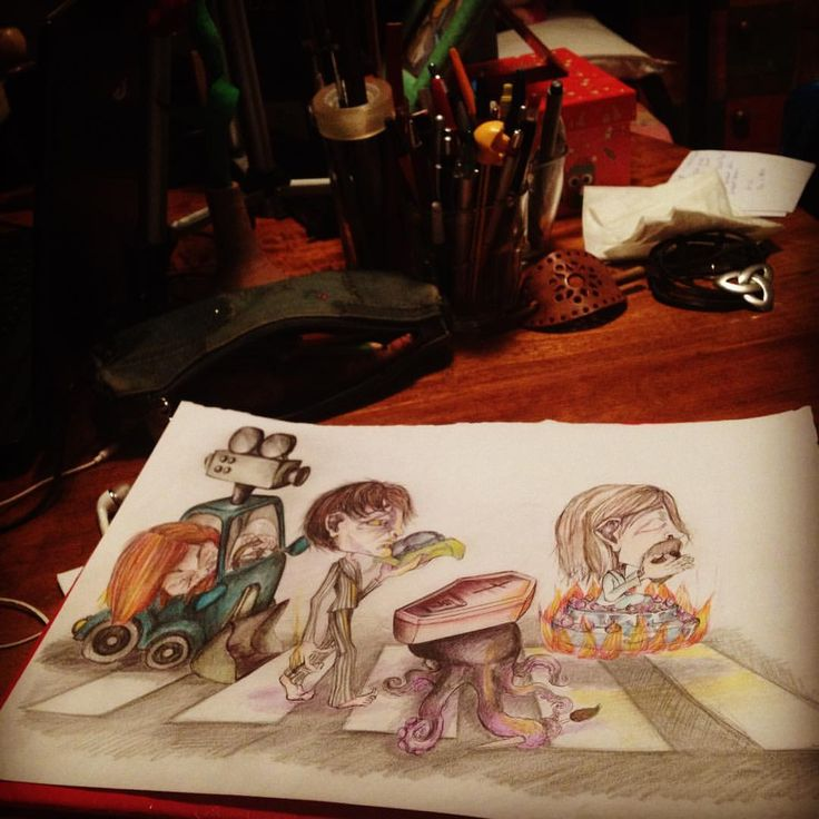 """Mi piace"": 14, commenti: 1 - Silvestri Anastasia (@anast_silvestri) su Instagram: ""#art #anast #anastasia #anastleimiparla #illustration #illusion #abbeyroad #beatles #octopus #lmw…"""