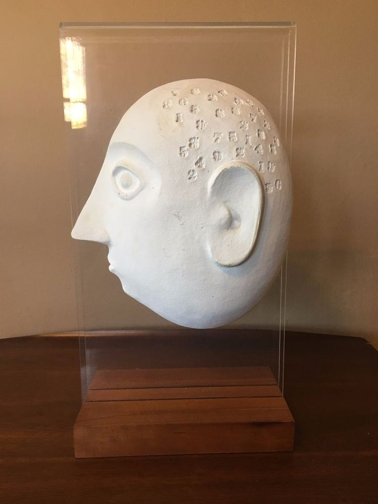 Mid-Century David Gil for Bennington Pottery Numbered Head Sculpture #MidCenturyModern
