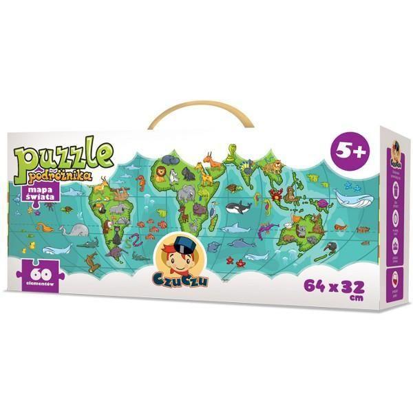 PUZZLE CZUCZU Puzzle Podróżnika. Mapa Świata
