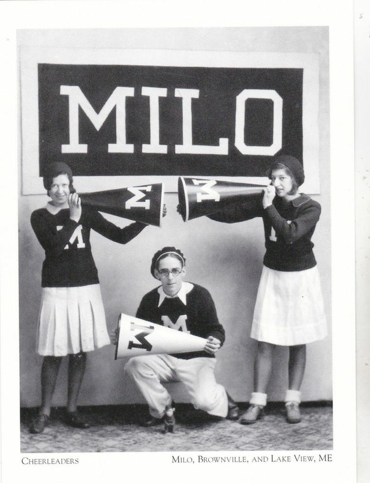 "*Postcard-""Cheerleaders""/from Milo -1931- *Milo, Brownville*Lake View, ME (#155)"