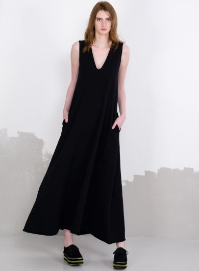 Long dress with a deep neckline