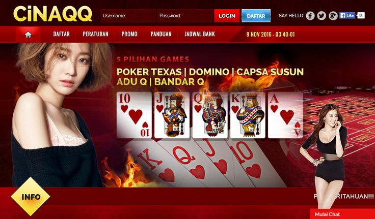 CinaQQ: Poker Online, BandarQ Online, DominoQQ, DominoBet, Capsa Susun  http://cinaqq.blogzet.com/cinaqq-poker-online-bandarq-online-dominoqq-dominobet-capsa-susun-3235449