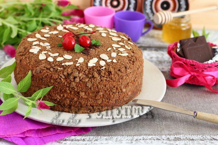 торт дамский каприз рецепт с фото пошагово в домашних условиях