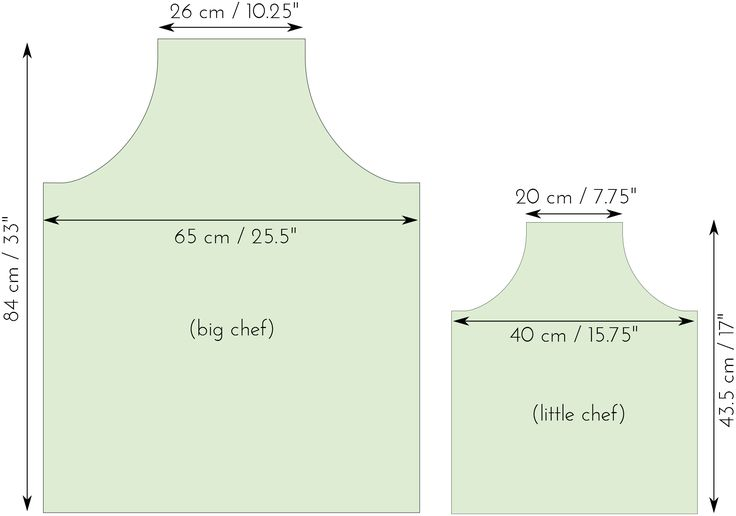 free apron pattern, adults and children More