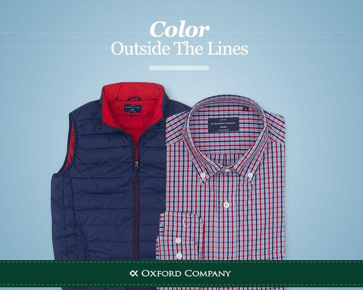Βγείτε από τα όρια και καλωσορίστε την άνοιξη και τα χρώματα που φέρνει μαζί της! #OC_fashion #men's_style #shirt #vest