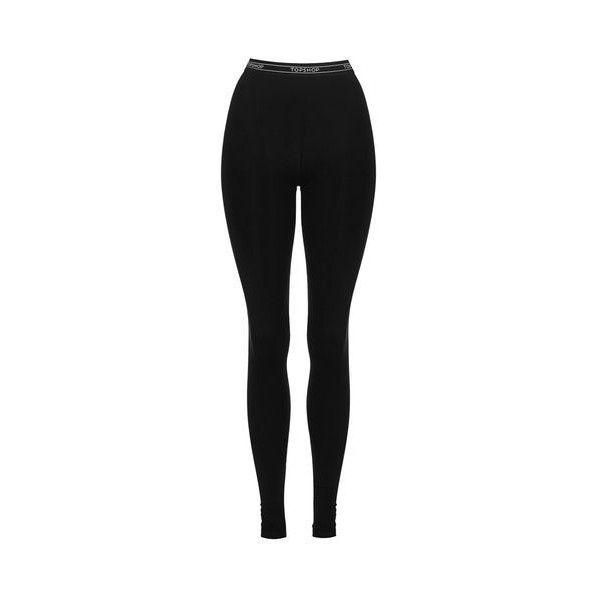 TopShop Tall Topshop Branded Leggings ($22) ❤ liked on Polyvore featuring pants, leggings, black, legging pants, tall pants, topshop, viscose pants and rayon pants