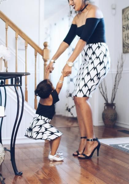 black and white barbed wire print for mommy and me outfit