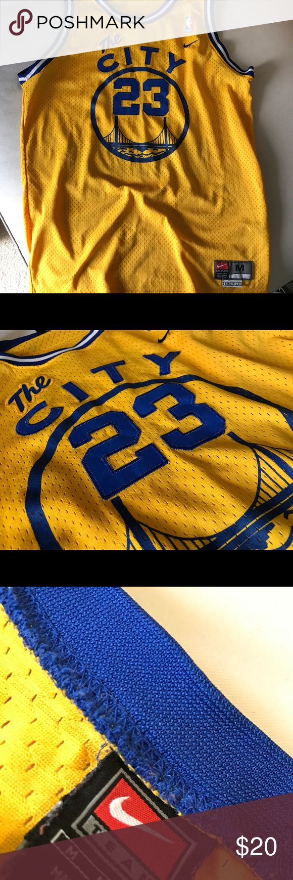 Nike Throwback Jason Richardson Warriors Jersey Super cool vintage throwback J-Rich jersey with old school The City logo. Stitched on premium letters and numbers. Minor hole in the neck area that was stitched an hardly noticeable (reflected in price). Rep the champs with this classic! Nike Other