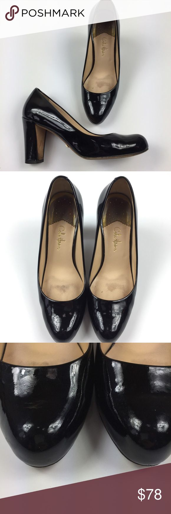 Cole Haan Patent Leather Black Block Nike Air Pump Gently worn, a few scuffs from wear still in great shape! See photos Cole Haan Shoes Heels