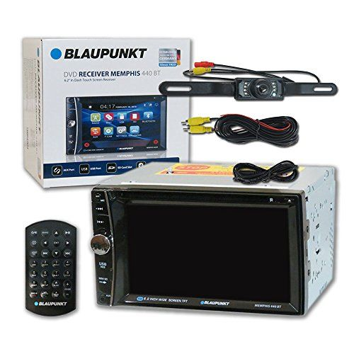 Blaupunkt Memphis 440BT Car audio Double Din 2DIN 6.2 Touchscreen DVD MP3 CD stereo Bluetooth + Remote & DCO Waterproof Backup Camera with Nightvision. For product info go to:  https://www.caraccessoriesonlinemarket.com/blaupunkt-memphis-440bt-car-audio-double-din-2din-6-2-touchscreen-dvd-mp3-cd-stereo-bluetooth-remote-dco-waterproof-backup-camera-with-nightvision/