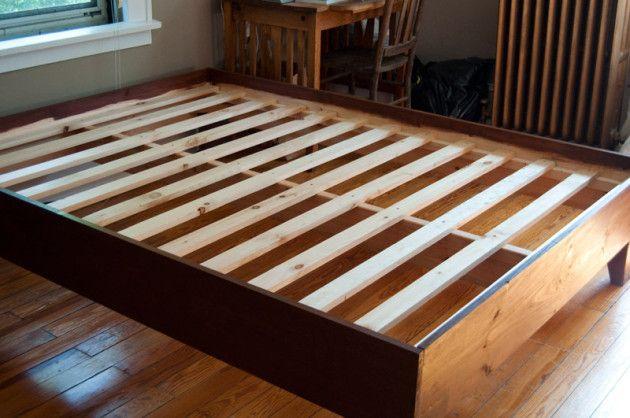 build wooden queen bed frame