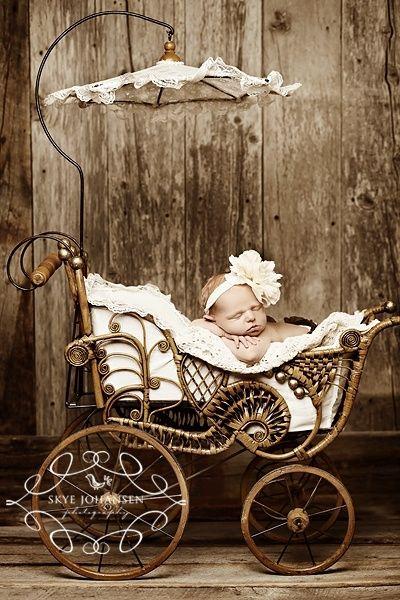 Shabby Chic Baby Styling in Her Pram/Baby Buggy : )
