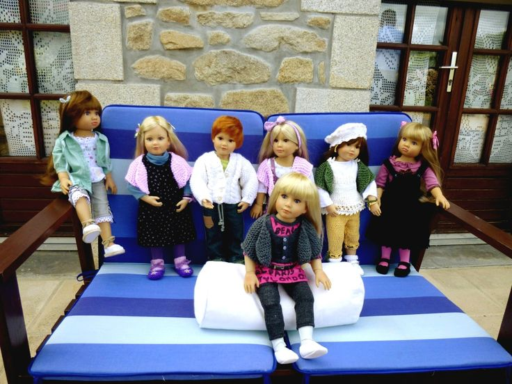 Kidz 'n' Cats dolls Amber, Marietta, Robby, Tinka, Mareike And Alexis
