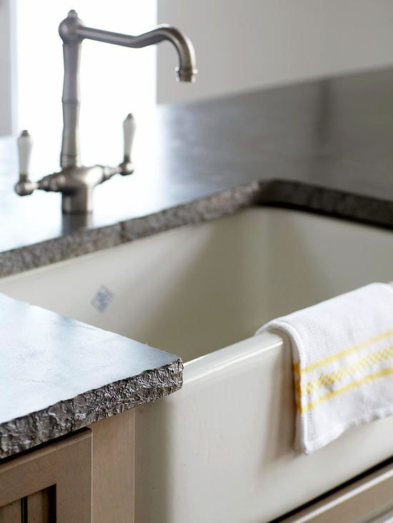 Laundry Countertop Materials : Concrete: Pros & Cons Pros: -Heat- and stain-resistant -Durable Cons ...