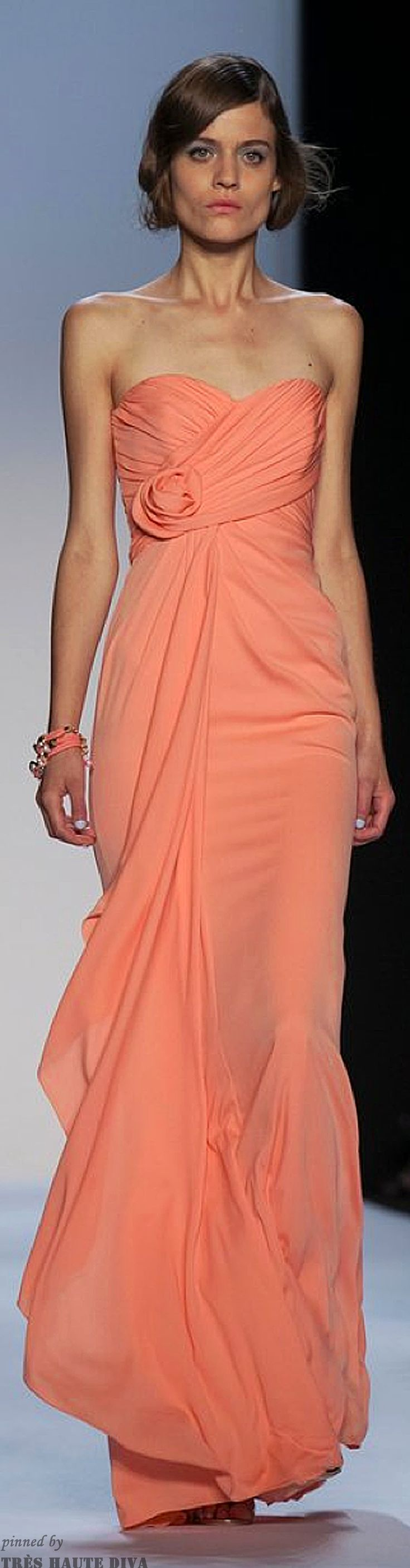 Best 25+ Vestidos Color Salmon Ideas On Pinterest | Vestidos Vintage Vestido Bordado And Falda ...