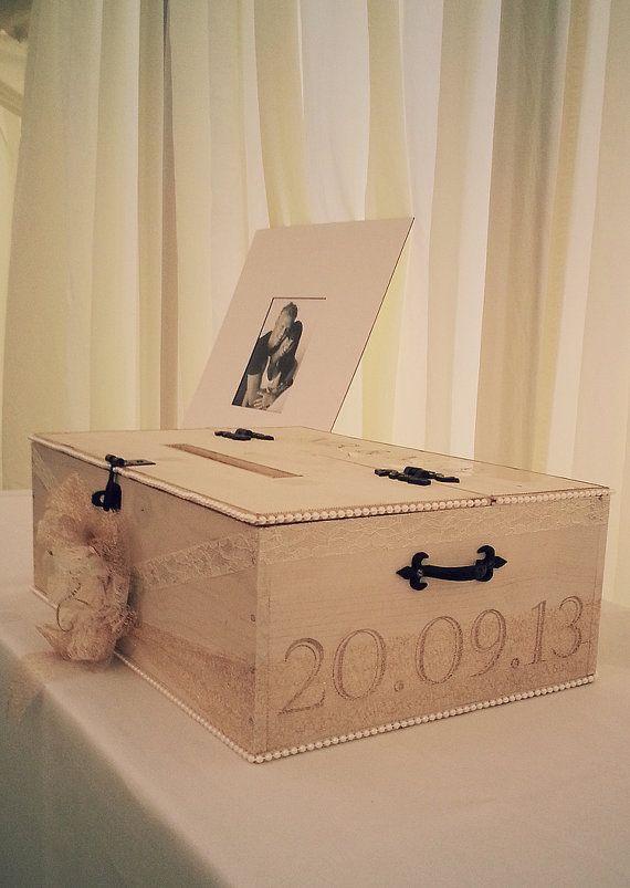 Shabby Chic Wooden Wedding Post Box by InteriorBehaviour on Etsy