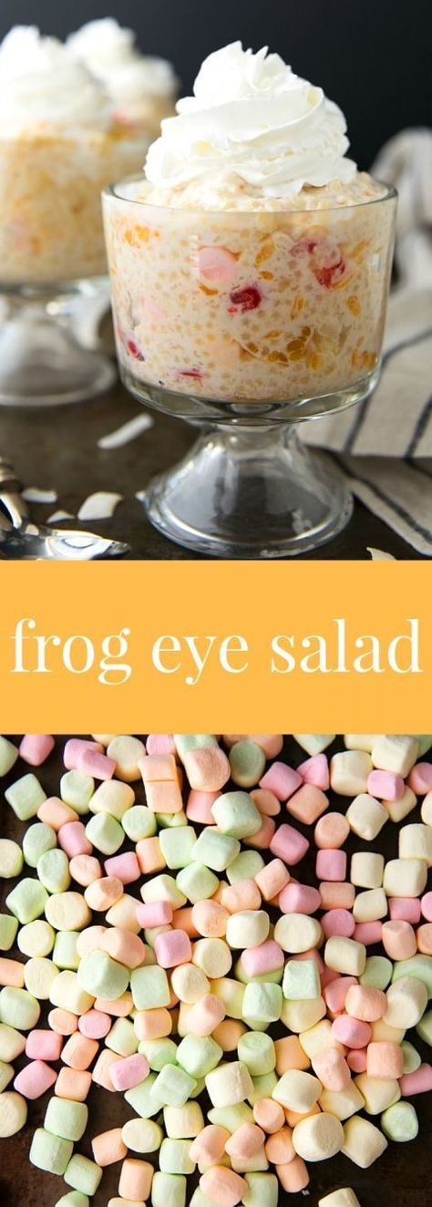 Yummy frogeye salad with mini marshmallows!