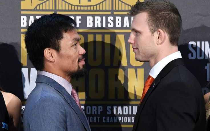 Manny Pacquiao speaks at Wednesday's Final press conference in Australia PACQUIAO VS. HORN AIRING LIVE IN CANADA THIS SATURDAY EXCLUSIVELY ON SUPER CHANNEL