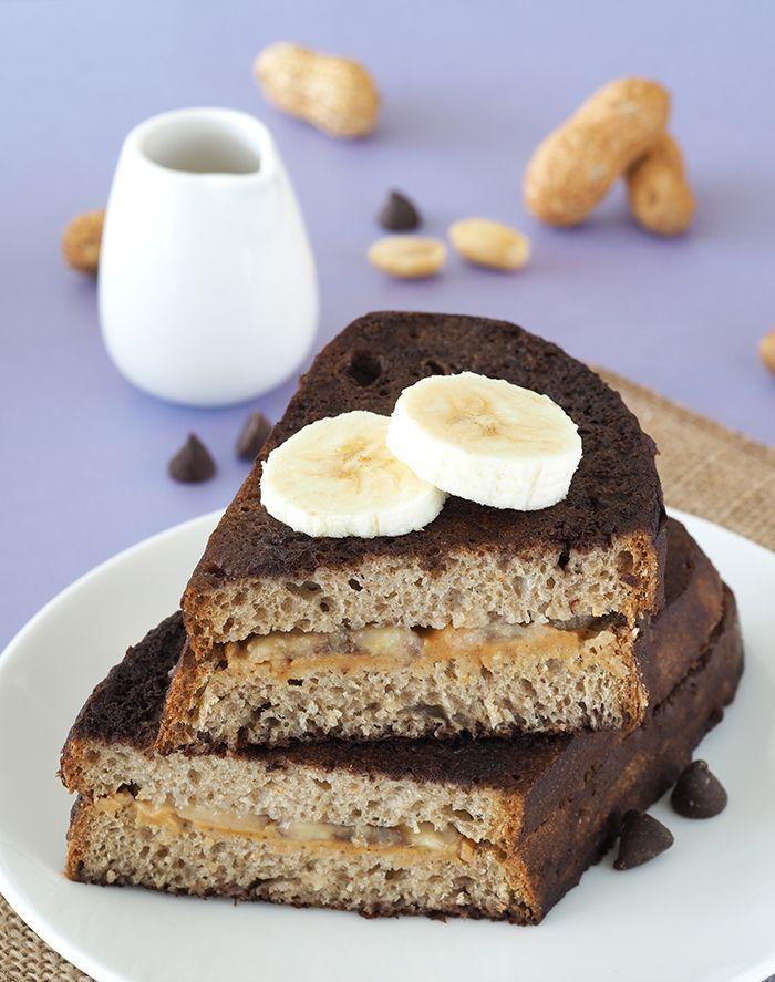 Burro di arachidi e banane al cioccolato ripiene French Toast |  Il Drama Queen colazione