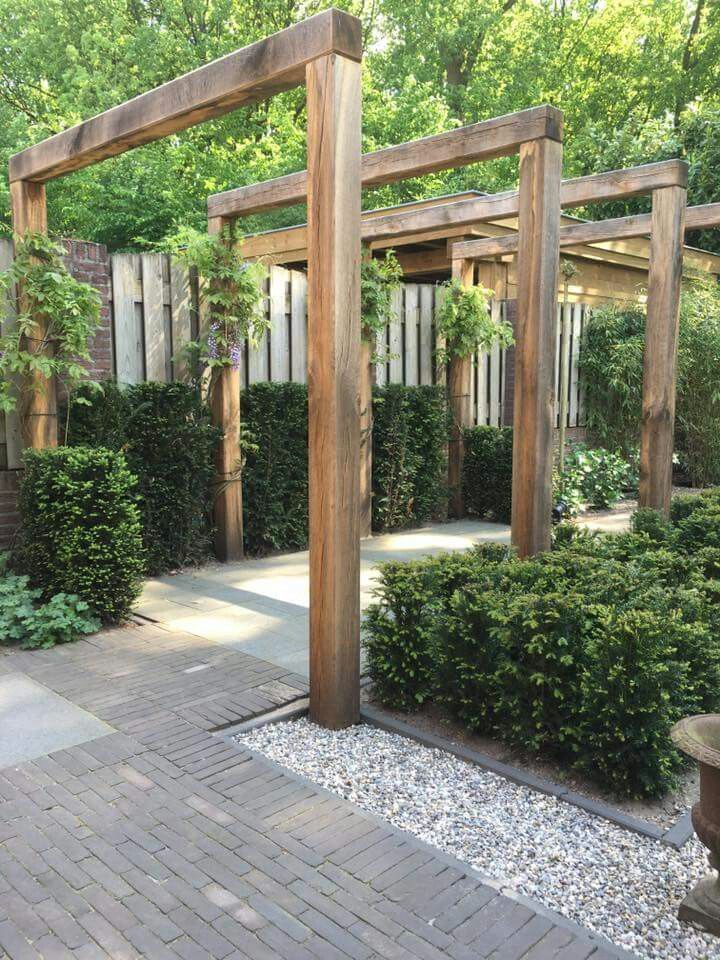 Pergola tight and made of wood. #garden #tuin #inspiratie #modern – #aus #dicht