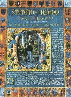 LO STATUTO ALBERTINO - La fonte del diritto del nascente Stato liberale italiano fu lo Statuto del Regno o Statuto Fondamentale della Monarchia di Savoia.