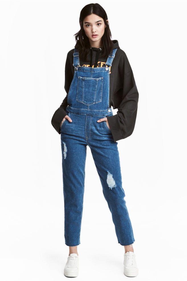 Kot Tulum Kot Tulum Kot Mavisi Kadin H 038 Kadin Kot Mavisi Sweatshirt Kombinleri Tulum Denim Overalls Overalls Fashion