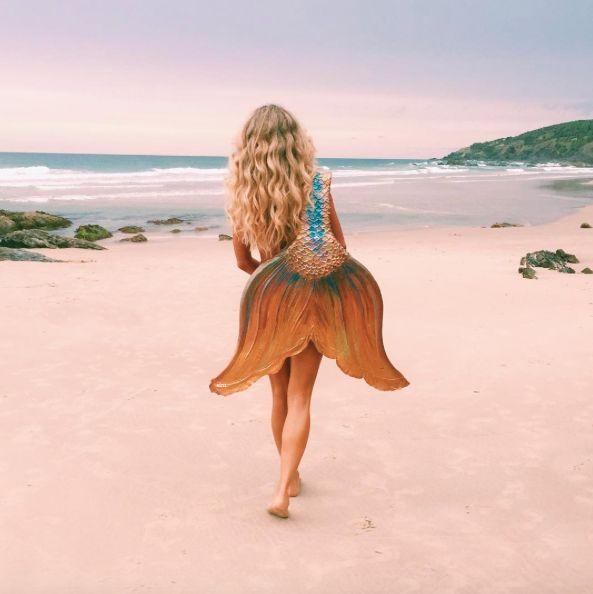 mermaid tail.