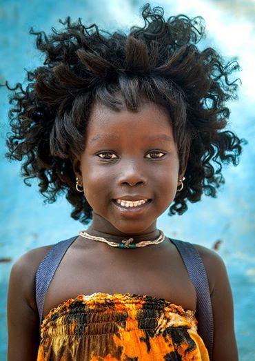 Anuak Tribe Girl , Gambela, Ethiopia. Eric Lafforgue.