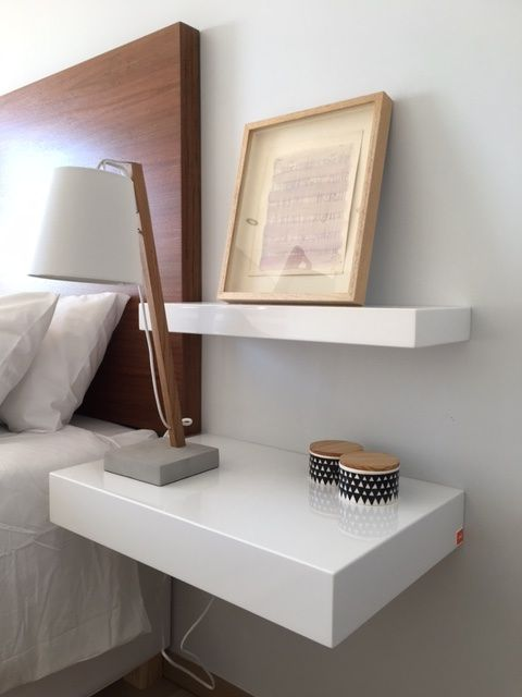 ODE floating shelves with headboard making up a beautiful bedroom. All shelves and headboards are available to order in a variety of finishes, custom colours and sizes