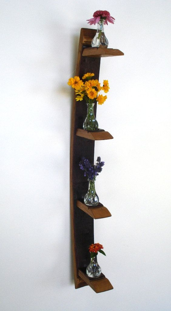 Wine Barrel Candle / Vase Holder  made by winecountrycraftsman, $50.00