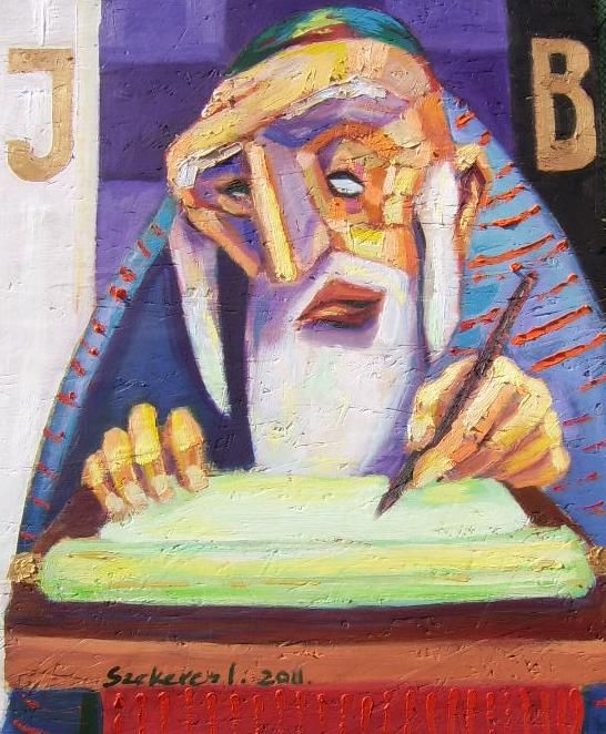 Imre Karrus Szekeres: Literate - 2011. 55 x 30 cm, 21.65 x 11.8 inch Mixed, wood-fibre