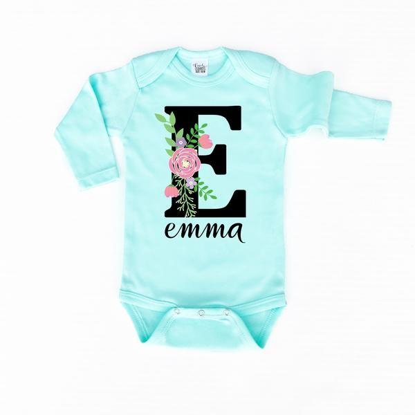 Baby Girl Clothes   Personalized Onesie   Custom Baby Onesie