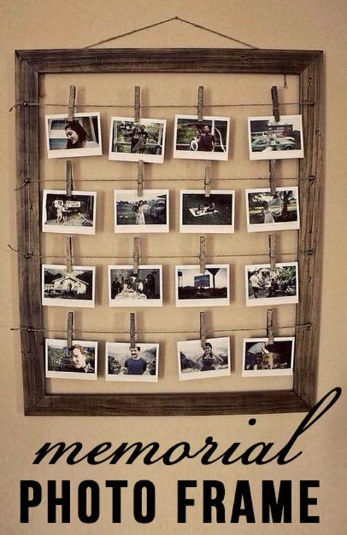 Memorial photo frame craft. 11 DIY Memorial Craft Projects for Crafty People - Urns Northwest