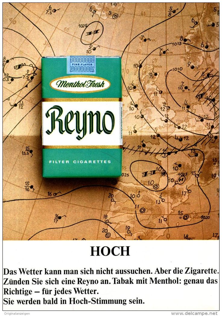 Original-Werbung/ Anzeige 1967 - REYNO MENTHOL FRESH CIGARETTEN - ca. 180 x 240 mm