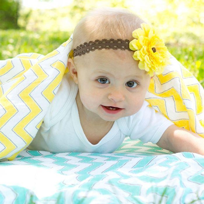 Пеленки, пеленальные одеяла - Пеленка детская тонкая 100% хлопок) SwaddleDesigns Маркизет Chevron (цвета в ассортименте)1200 руб