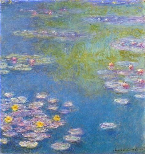 Water Lilies - Claude Monet -- Completion Date: 1908