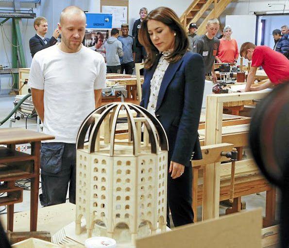 Danish Princess Mary visits Roskilde Technical school