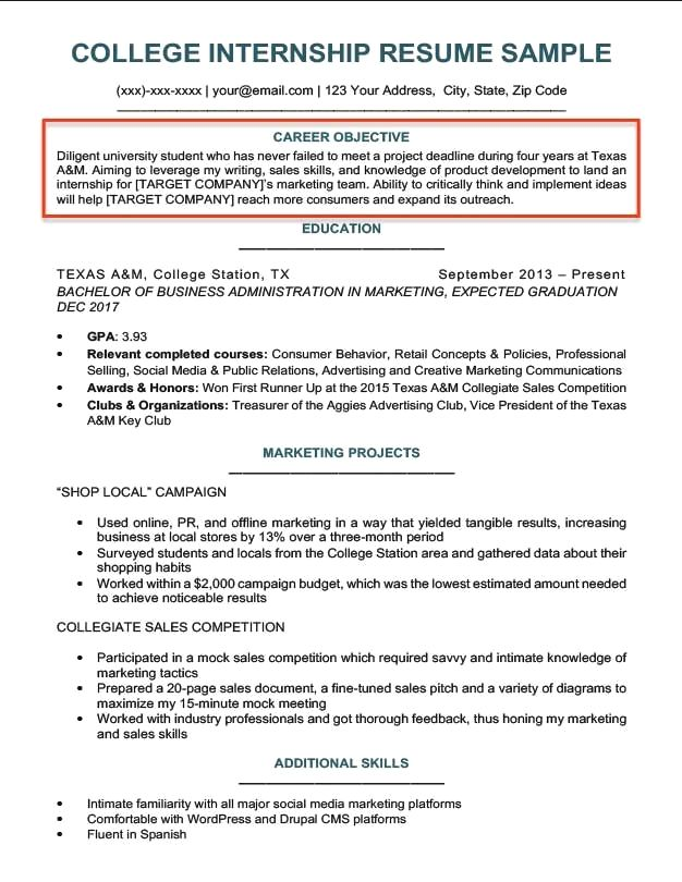 How To Write A Career Objective 15 Resume Objective Examples