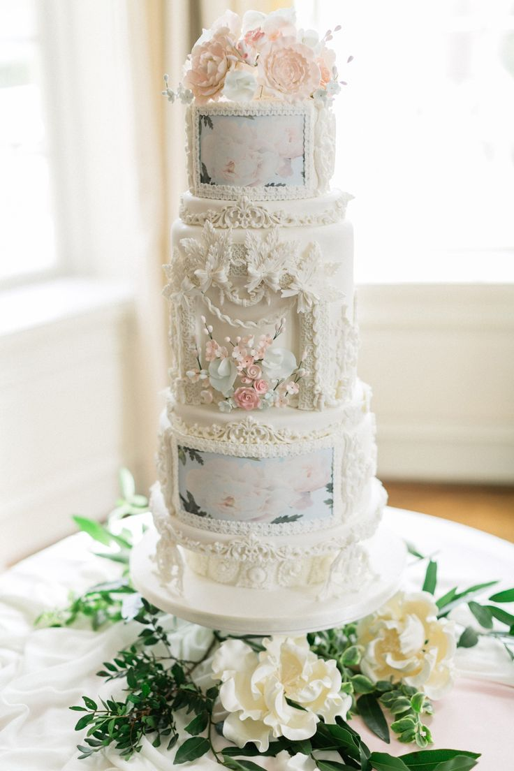 Whimsical Wedding Cakes Watercolors
