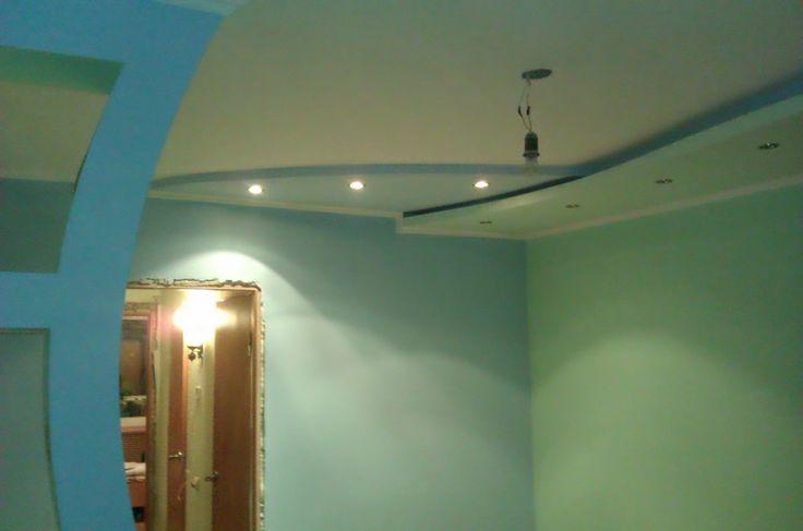 Добавлен двухуровневый потолок
