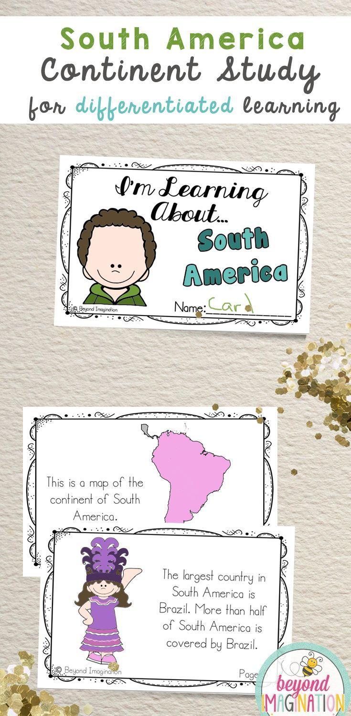 Continent Facts Booklet Unit South America | TpT Social Studies ...