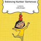 Number sentences or equations - whatever you call them, they need to be balanced on either side of the equals sign!  In this free PDF, you will fin...