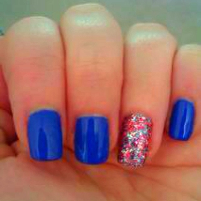 My nails using baker st & jubilee polished from nails inc