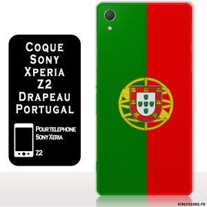 Z2 Sony Xperia : Coque drapeau Portugal - Housse silicone Xperia Z2. #coque #drapeau #portugal #xperia #sony #z2