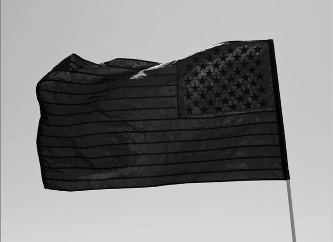 Black American Flag!  http://www.stampdla.com
